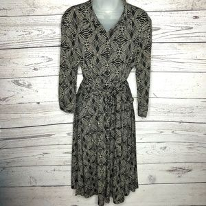 VTG Robbie Bee Belted Button Down Dress 10